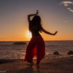 Dancing with sunset